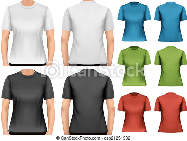T Shirt Design Line Art : Female t shirts. design template. vector. vectors search clip art