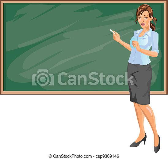 Female Teacher - csp9369146
