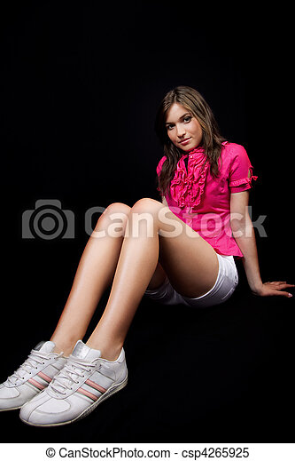 Female Teen With Long Legs And Sport Shoes Csp