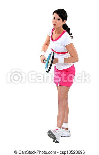 female tennis player - csp10523696