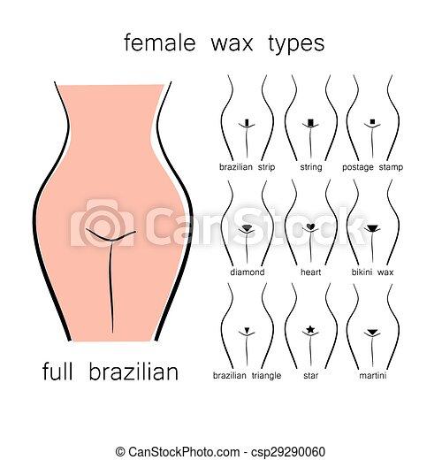 Female bikini wax