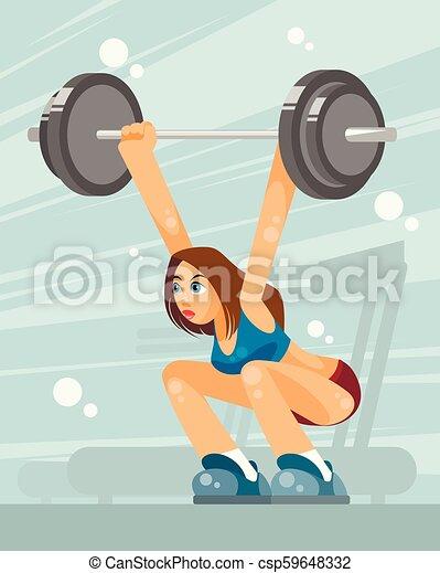 Female weight lifter - csp59648332