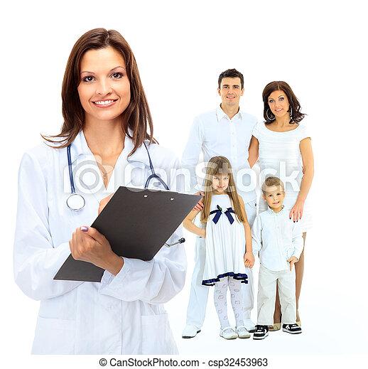 femininas, doutor familiar - csp32453963