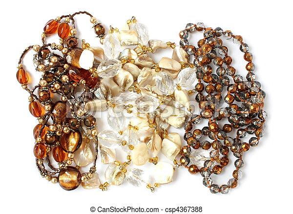 feminine beads isolated - csp4367388