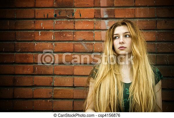 Feminine sadness - csp4156876
