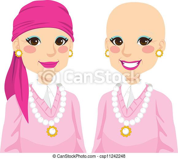 femme aînée, cancer - csp11242248