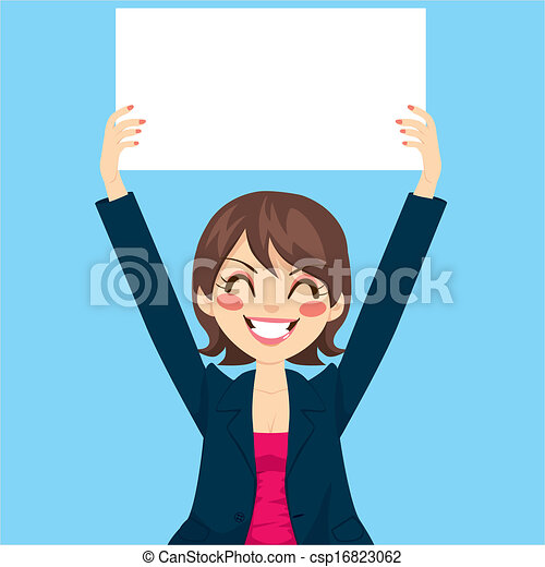 femme affaires, conseil blanc, tenue - csp16823062