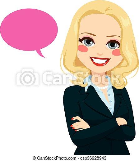 femme affaires, personne agee, balloon - csp36928943