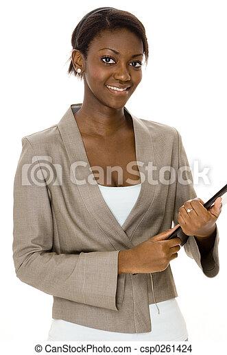 femme affaires, sourire - csp0261424