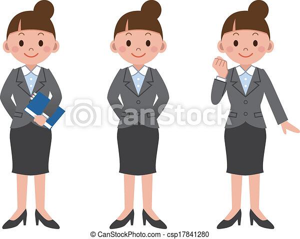 femme affaires - csp17841280