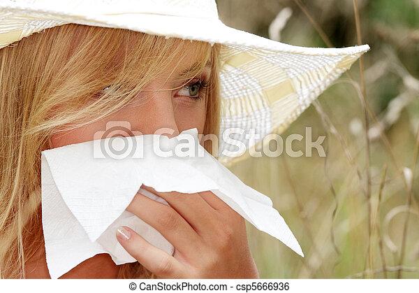 femme, allergie, adolescent - csp5666936
