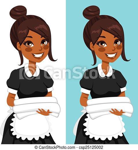 femme américaine, ménage, africaine - csp25125002