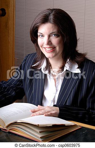 femme, avocat - csp0603975
