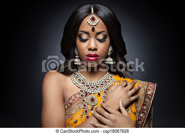Super Images de stock de beau, jewelry., femme, indien, maquillage  EF05