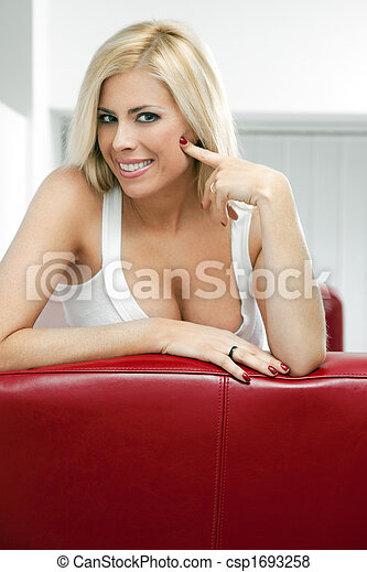 femme, blonds - csp1693258