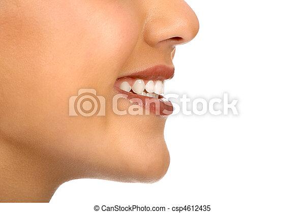 femme, bouche - csp4612435
