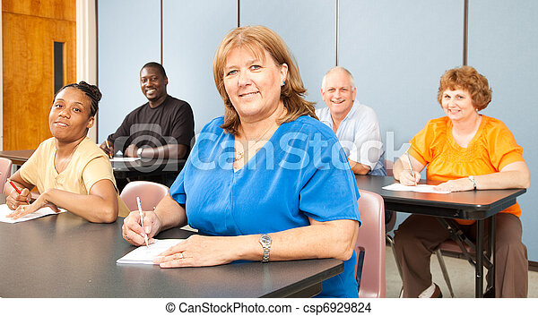 femme, collège, mûrir - csp6929824