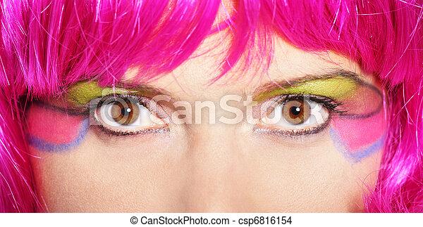 femme, coloré - csp6816154