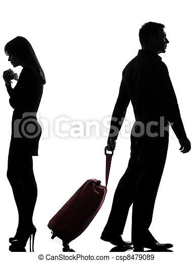 femme, couple, une, séparation, conflit, homme - csp8479089