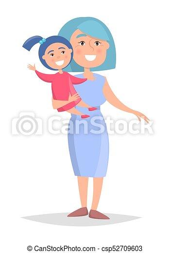 femme, deux âges, petite-fille, mains - csp52709603