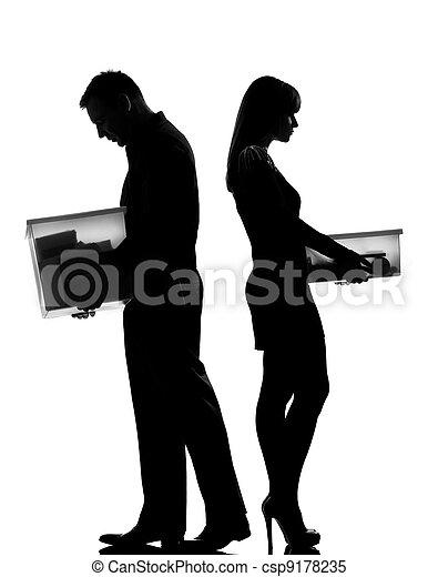 femme, divorce, couple, une, séparation, homme - csp9178235