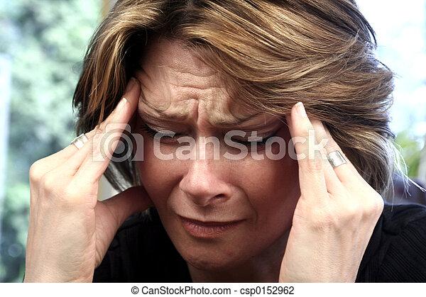 femme, douleur - csp0152962