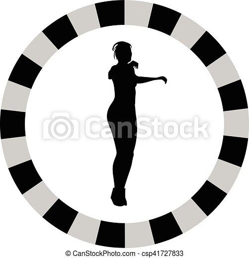 femme, fitness - csp41727833