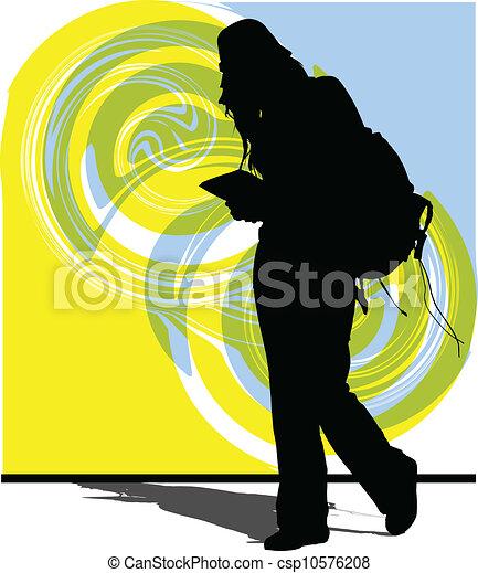 femme, illustration - csp10576208