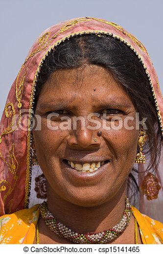 femme, indien - csp15141465