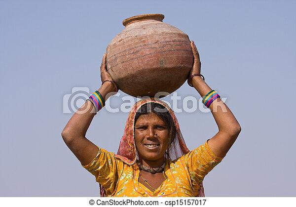 femme, indien - csp15157017