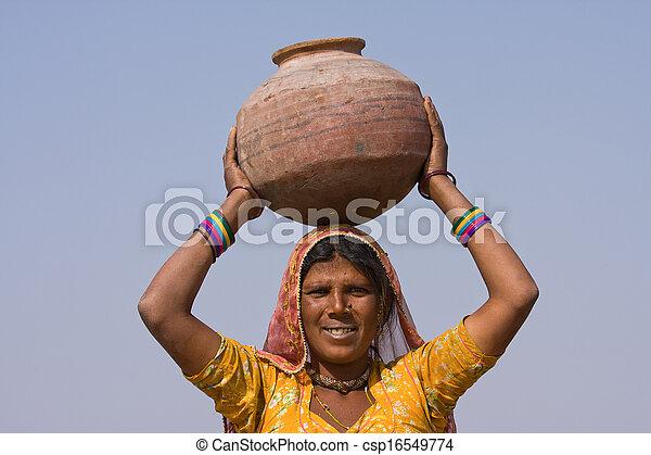 femme, indien - csp16549774