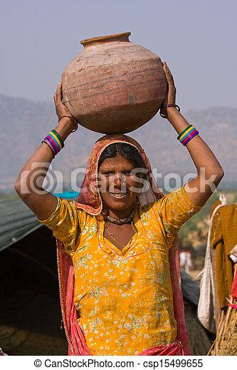 femme, indien - csp15499655