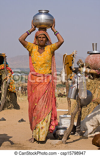 femme, indien - csp15798947