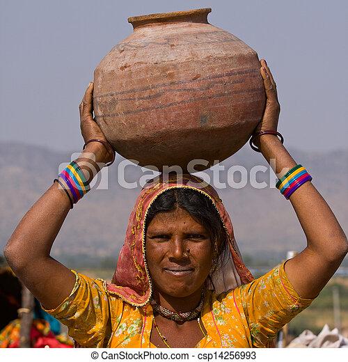 femme, indien - csp14256993