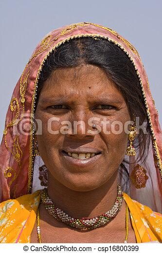 femme, indien - csp16800399