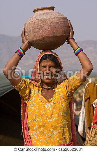 femme, indien - csp20523031