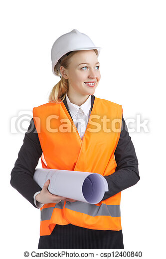 femme, ingénieur - csp12400840