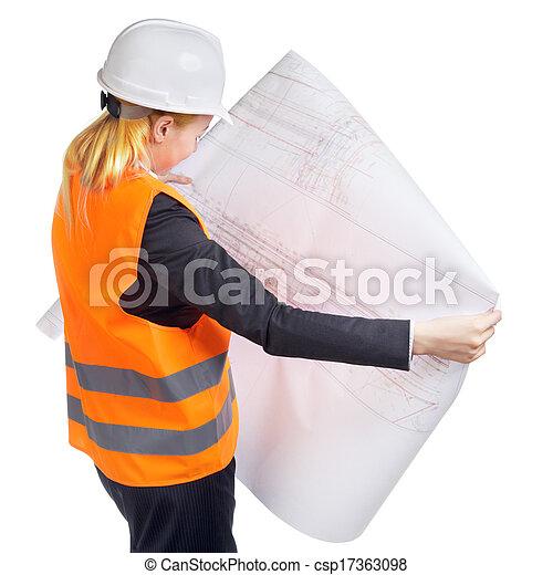 femme, ingénieur - csp17363098