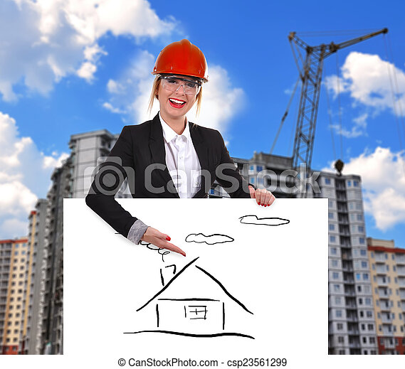 femme, ingénieur - csp23561299