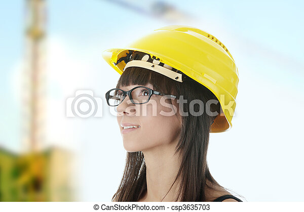 femme, ingénieur - csp3635703
