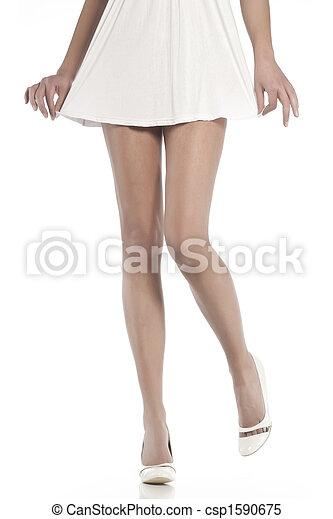 femme, jambes, mince, long - csp1590675