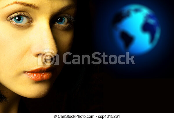 femme, la terre - csp4815261
