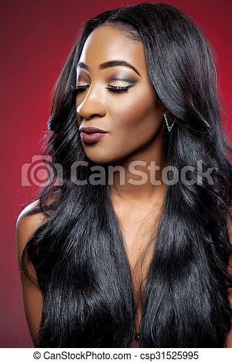 Noir cheveux long