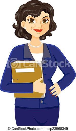 femme, mûrir, business - csp23568349