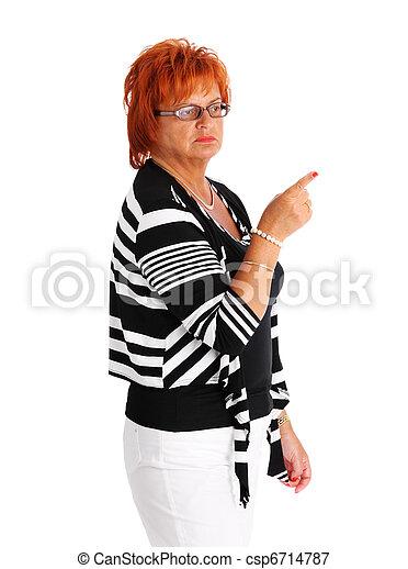 femme, mûrir, pointage - csp6714787