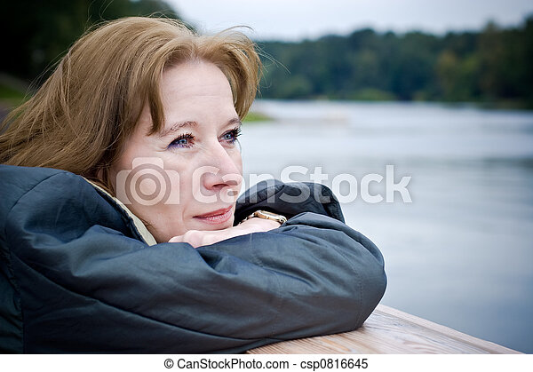 femme, mûrir, rêver - csp0816645