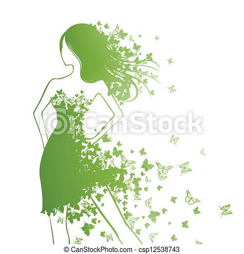 femme, mode - csp12538743