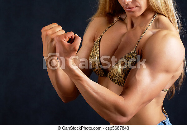 femme, musculaire - csp5687843