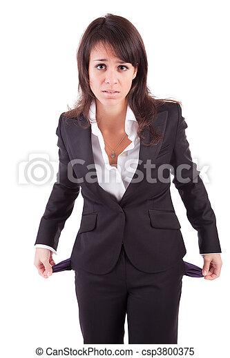 femme, poches vides, tenue - csp3800375