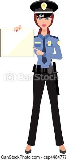 Femme police officier femme gendarme - Gendarme dessin ...